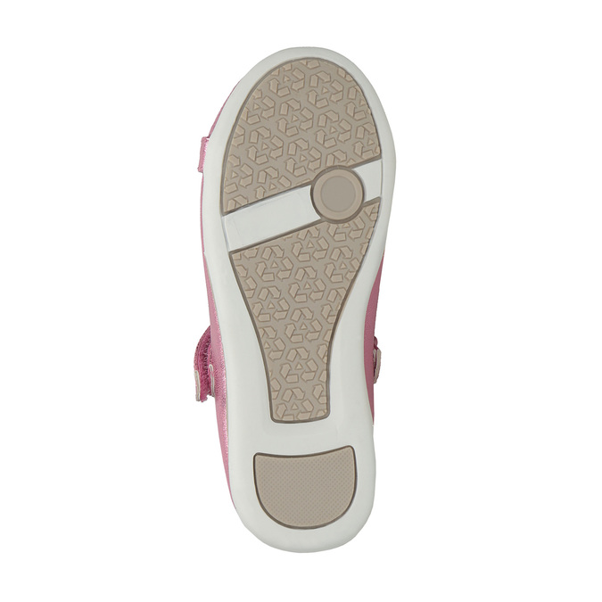 Pink ballet pumps with strap across instep mini-b, pink , 221-5179 - 26
