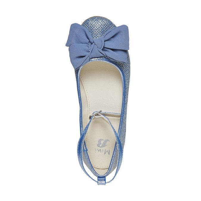 Girls' blue ballet pumps mini-b, blue , 329-9241 - 19