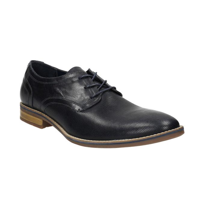 Men's casual leather shoes bata, blue , 826-9817 - 13