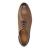 Leather shoes with transparent sole bata, brown , 826-3803 - 19