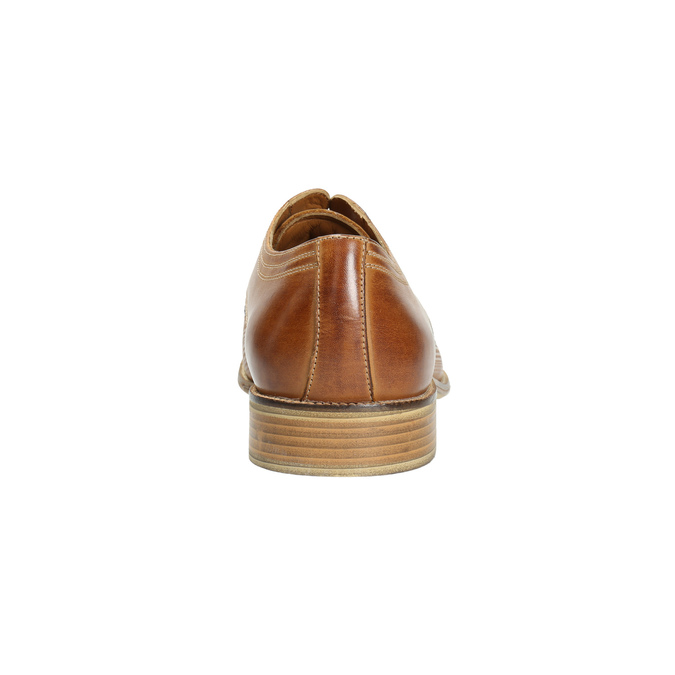 Leather Derby shoes bata, brown , 826-3802 - 17