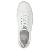 White leather sneakers gabor, white , 626-1204 - 19