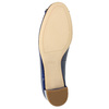Leather pumps with bow hogl, blue , 628-9400 - 26