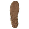 Ankle-cut leather shoes with a red zipper weinbrenner, brown , 596-8654 - 26