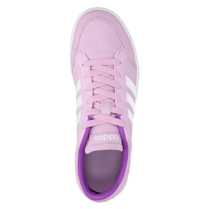 Girls' purple sneakers adidas, pink , 489-9119 - 19