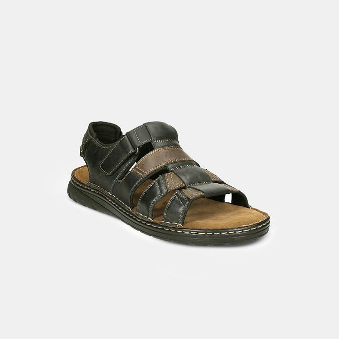 Men's leather sandals bata, brown , 866-4610 - 26