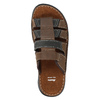 Men's leather slip-ons bata, brown , 866-4611 - 19