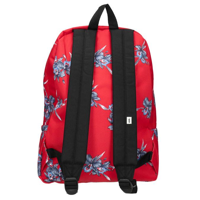 Red patterned backpack vans, red , 969-5093 - 26