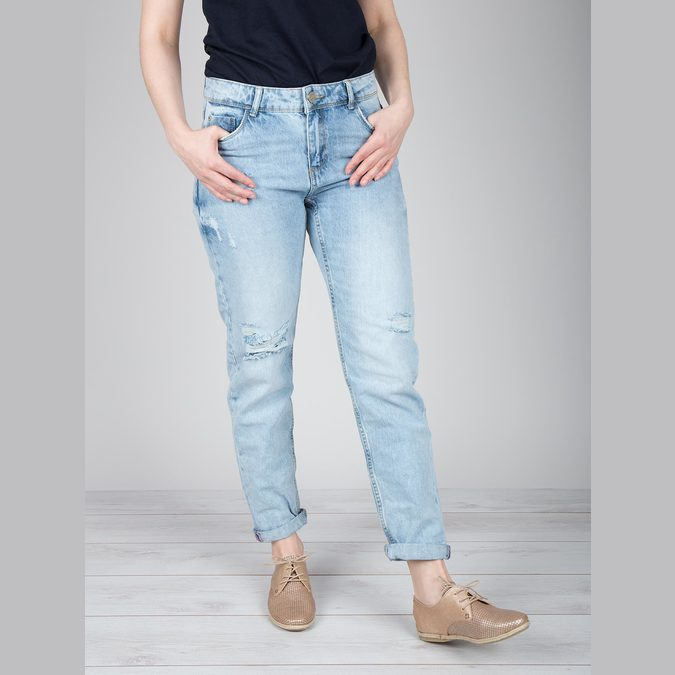 Ladies' leather shoes bata, beige , 526-8629 - 18
