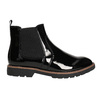 Patent leather Chelsea Boots with an eye-catching sole bata, black , 591-6603 - 15