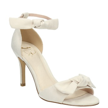 Ladies' sandals with bow insolia, white , 769-1614 - 13