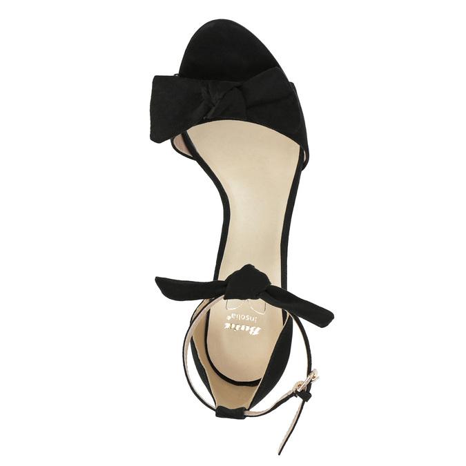 Ladies' black heeled sandals insolia, black , 769-6614 - 19