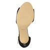 Ladies' black heeled sandals insolia, black , 769-6614 - 26