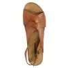 Ladies' interlacing leather sandals weinbrenner, brown , 566-4628 - 19