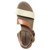 Leather sandals with a distinctive sole weinbrenner, brown , 566-4627 - 19