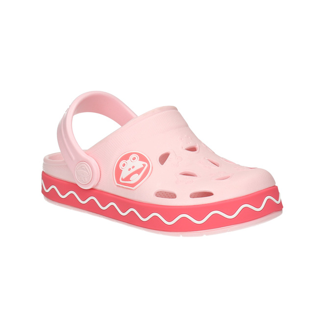 Pink sandals with frog coqui, pink , 272-5603 - 13