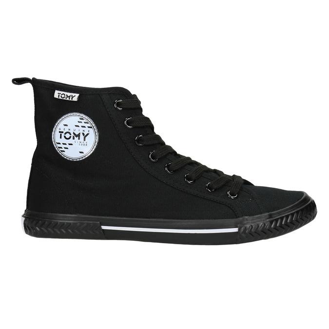 Black ankle sneakers tomy-takkies, black , 589-6173 - 15