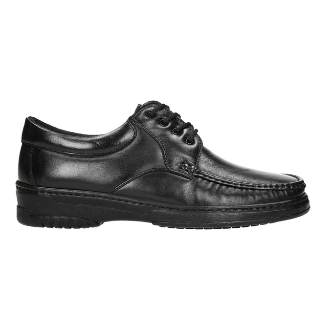 Men's shoes with stitching, black , 824-6542 - 15