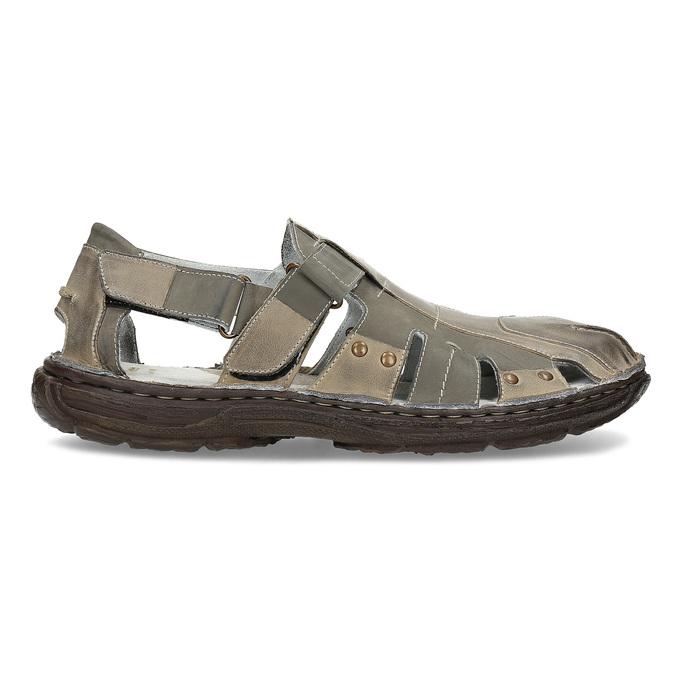 Men's leather sandals bata, brown , 866-2622 - 19
