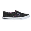 Ladies' slip-ons with coloured trim north-star, black , 589-6440 - 15