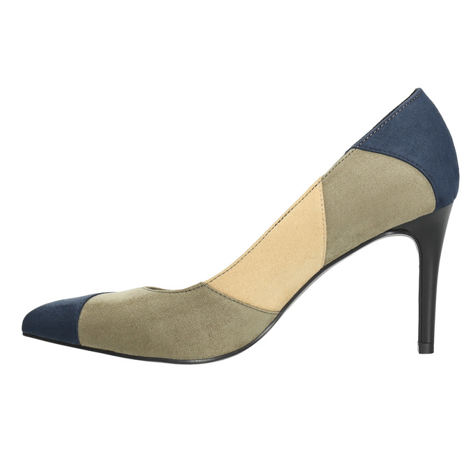 Ladies stiletto pumps insolia, blue , 729-9607 - 26