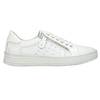 Leather ladies' sneakers with a zipper bata, white , 526-2630 - 15