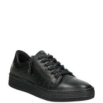 Ladies' leather sneakers bata, black , 526-6630 - 13