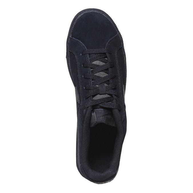 Men's leather sneakers nike, black , 803-6302 - 19