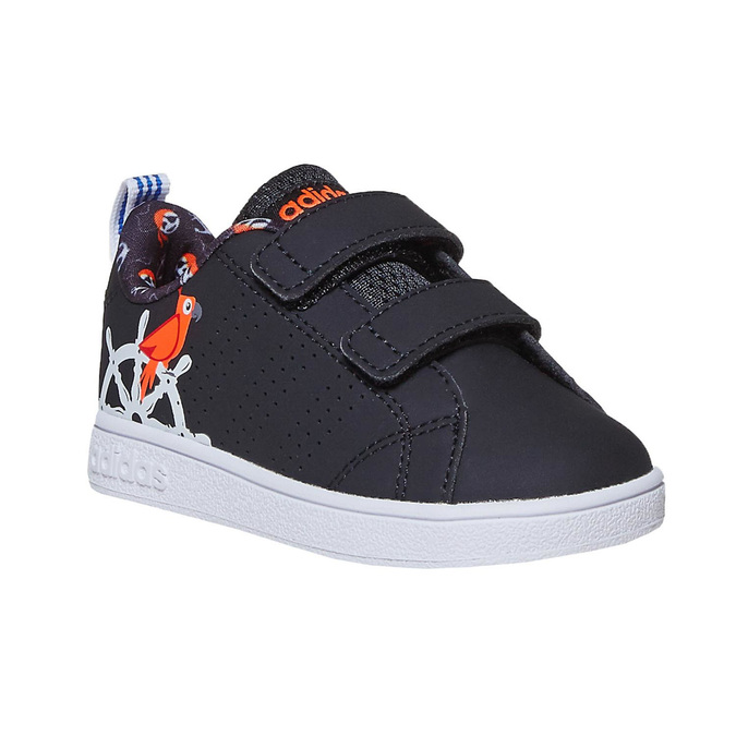 Children's sneakers with printed motif adidas, black , 101-6133 - 13
