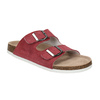 Ladies' leather sandals de-fonseca, red , 573-4621 - 13