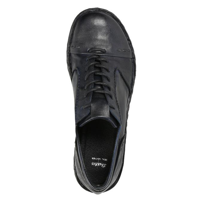 Ladies' leather oxford shoes bata, blue , 526-9640 - 26
