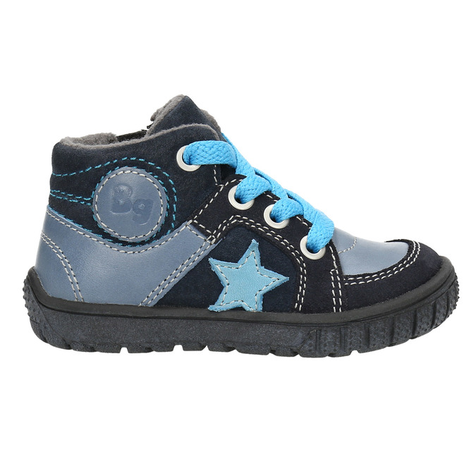 Boys' leather shoes bubblegummer, blue , 113-9601 - 15