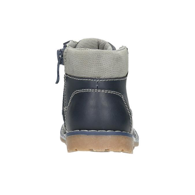 Kids' leather shoes bubblegummer, blue , 114-9610 - 17
