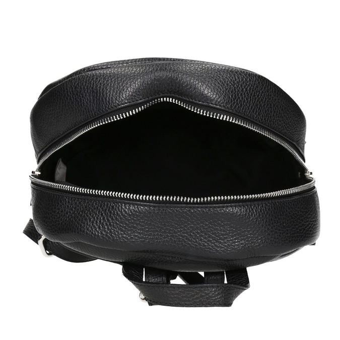 Black leather backpack bata, black , 964-6240 - 15