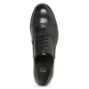Ladies' leather shoes with stitching bata, black , 524-6661 - 17