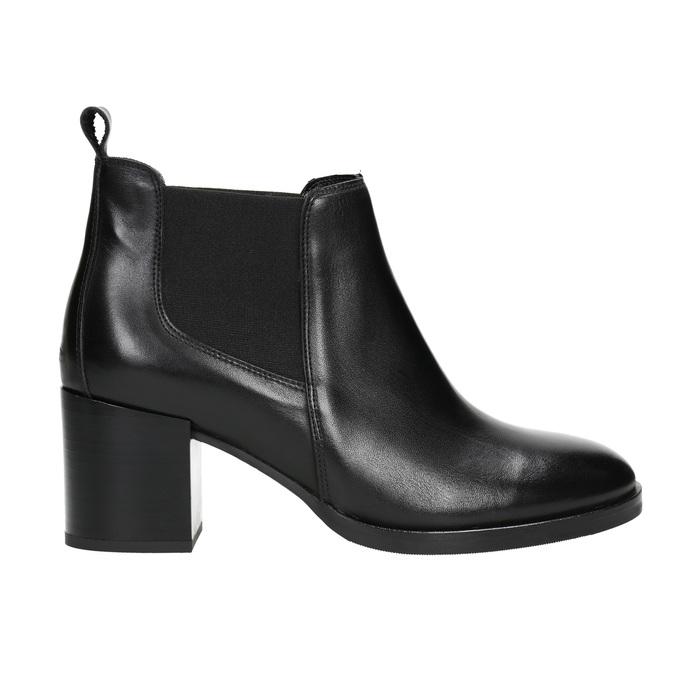 Ladies' Leather Ankle Boots bata, black , 694-6641 - 15