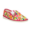 Girls' patterned slippers bata, pink , 279-5122 - 13