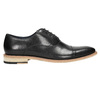 All-leather Oxford shoes bata, black , 824-6414 - 15