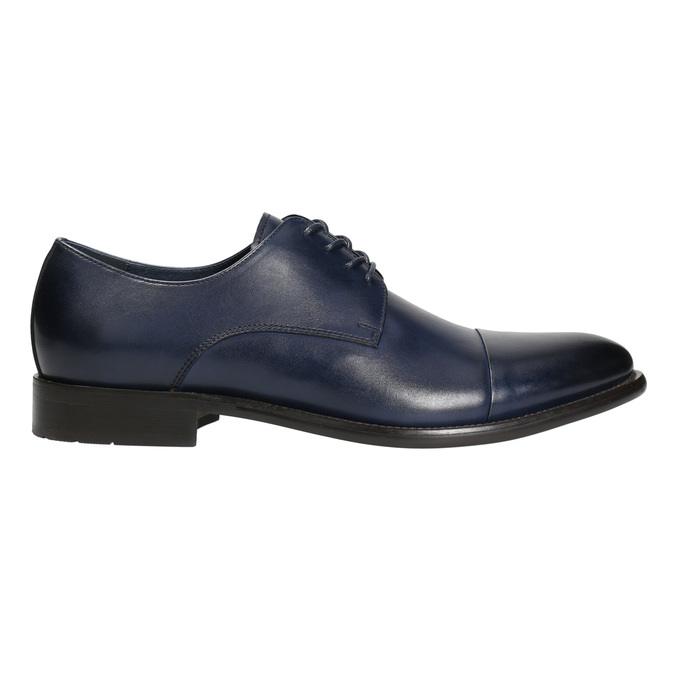 Men's leather Derby shoes bata, blue , 826-9682 - 15