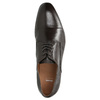 Brown leather Derby shoes bata, brown , 824-4406 - 26