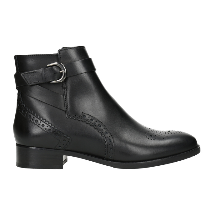 Embellished Leather Ankle Boots clarks, black , 614-6027 - 26