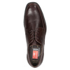 Brown Leather Derby Shoes fluchos, brown , 824-4442 - 15