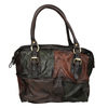 Leather Patchwork Handbag a-s-98, multicolor, 966-0062 - 26