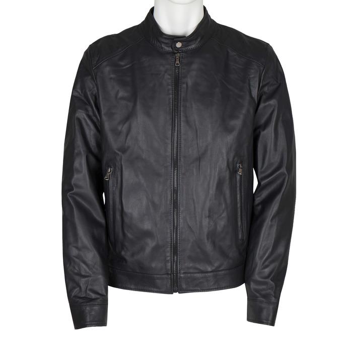 Men's Leather Jacket bata, black , 974-6154 - 13