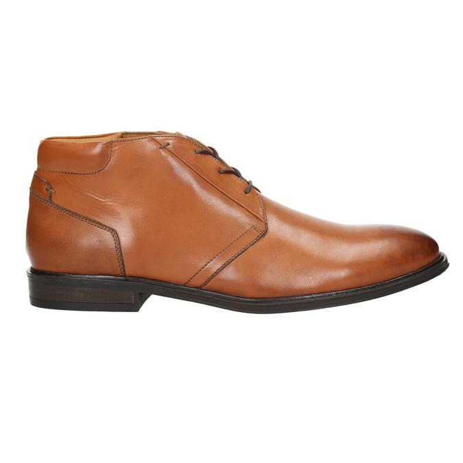 Men's leather Ombré boots bata, brown , 826-3913 - 15