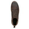 Men's leather ankle boots bata, brown , 846-4653 - 15