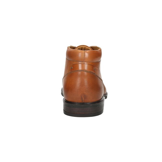 Men's leather Ombré boots bata, brown , 826-3913 - 17