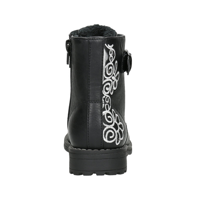 Children's Ankle Boots with Embroidery mini-b, black , 391-6654 - 17