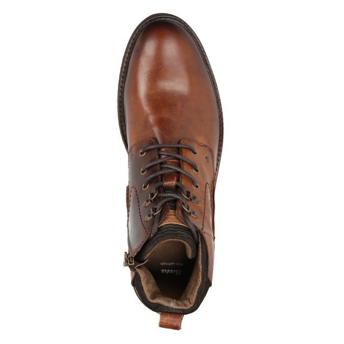 Leather Ankle Boots bata, brown , 896-3675 - 15