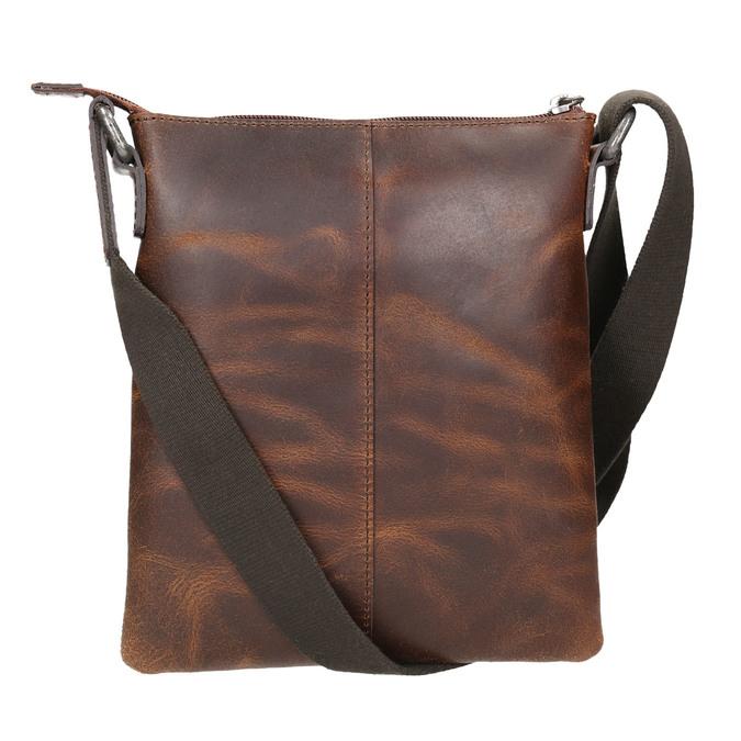 Men's leather crossbody bag bata, brown , 964-4140 - 26